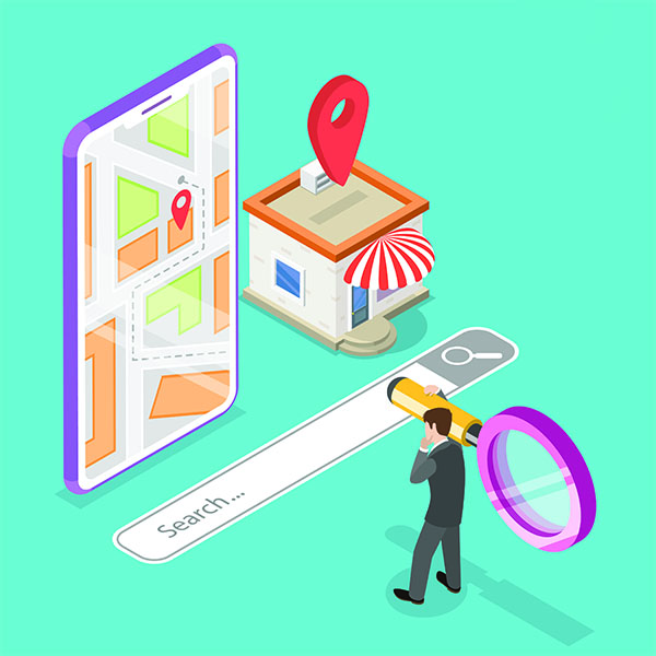 cartoon of Local search engine optimisation in Cambridge